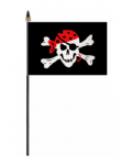 Pirate One Eyed Jack Hand Flag - Small